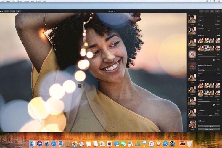 Pixelmator Pro 1.1.4 fait plus d'effets pour moitié moins cher