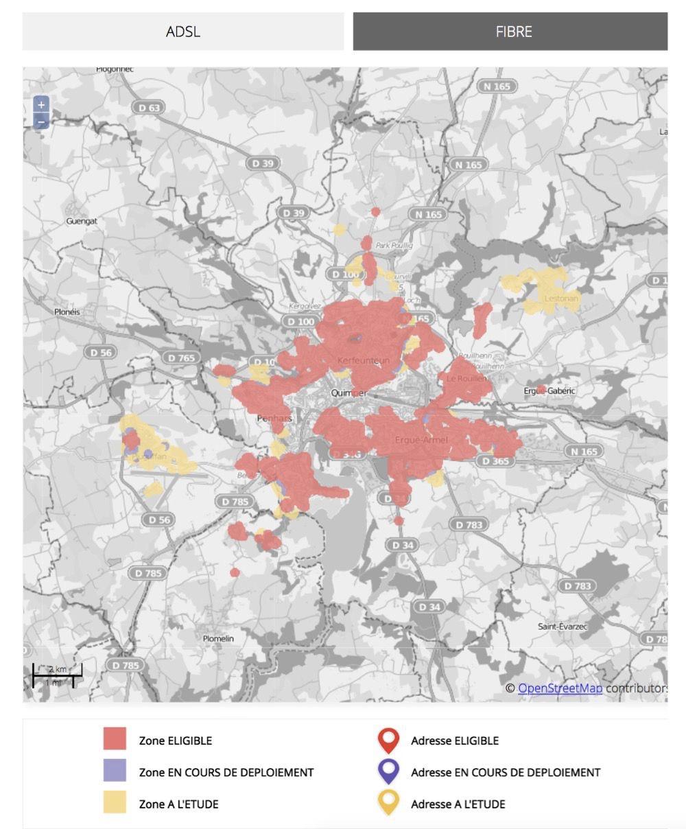 eligibilité fibre orange carte Free publie une carte d'éligibilité à la fibre optique | MacGeneration
