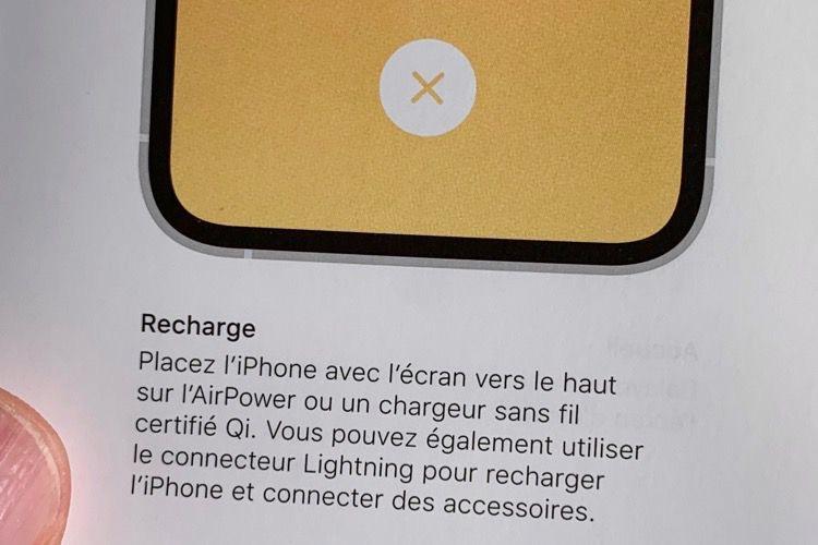 Le manuel des iPhoneXS évoque aussi l'AirPower