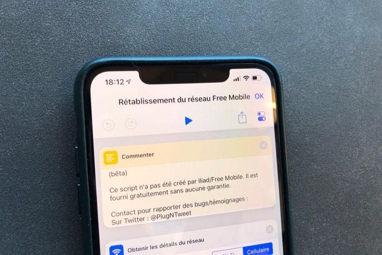Une app pour maintenir un iPhone sur le réseau de Free