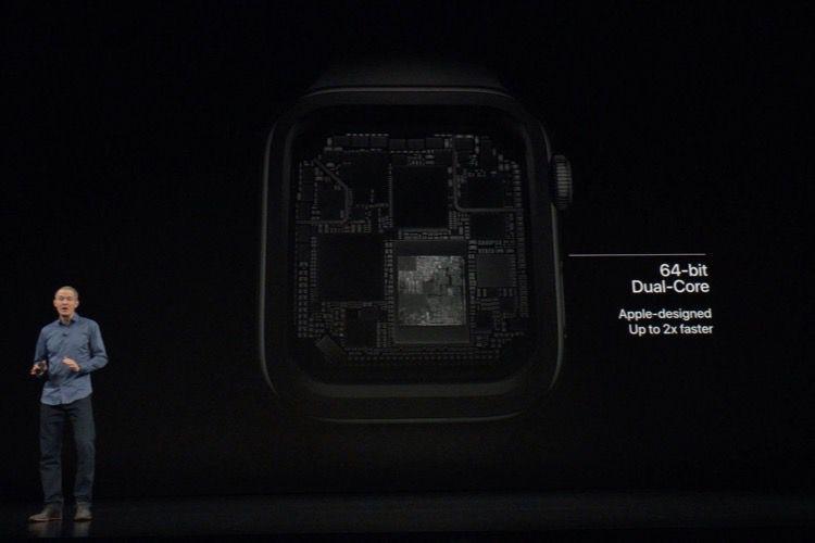 Le processeur des Apple Watch Series4 repose sur celui des iPhoneXS