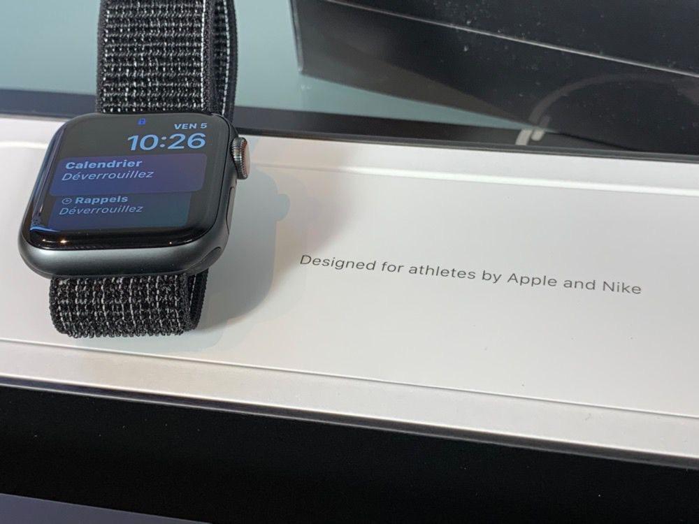 prise en main de l apple watch series 4 nike watchgeneration