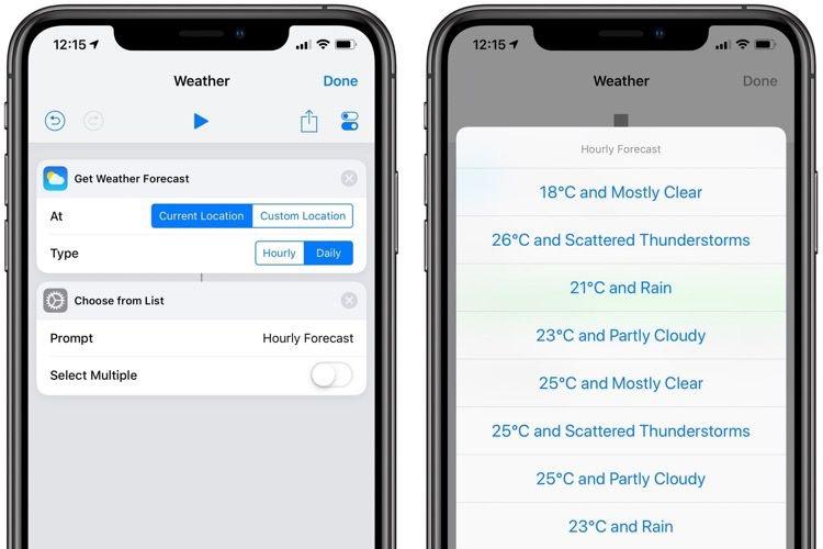 Raccourcis 2.1 intègre la météo dans son automatisation