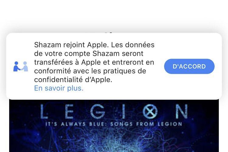 Shazam avertit de son changement de propriétaire