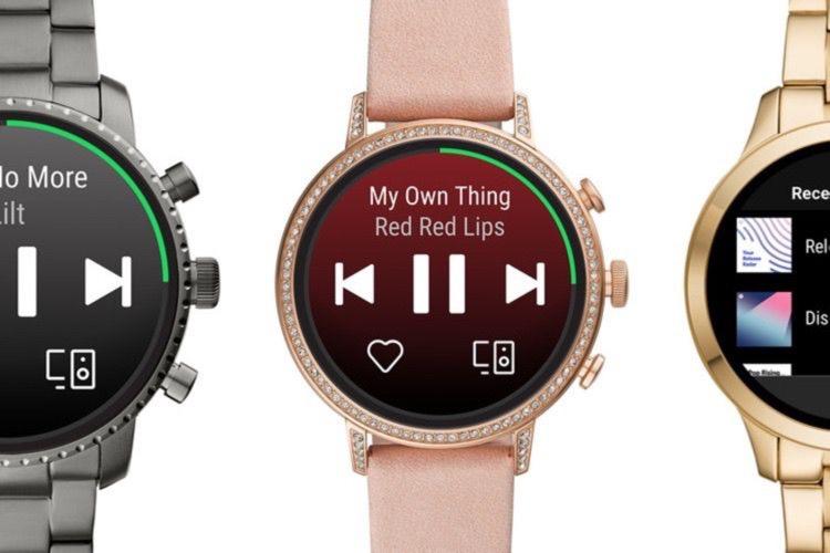 Sur Wear OS, Spotify se contente d'être une télécommande
