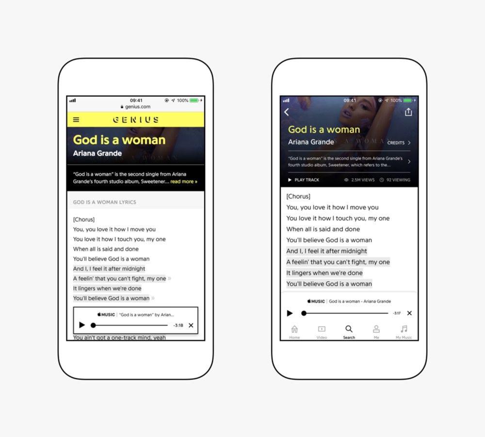 Apple Music et Genius ont signé l'accord pour l'intégration de textes