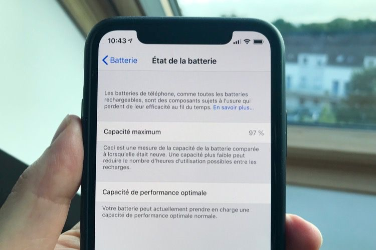 La batterie de nos iPhone X, un an après