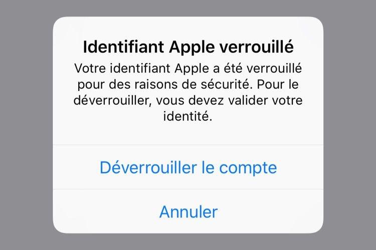 Des comptes Apple bloqués sans raison connue