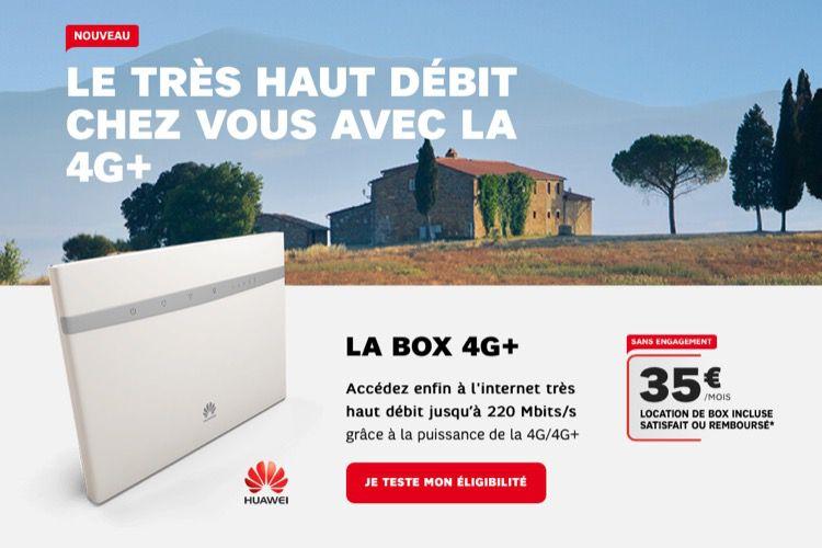 SFR augmente les débits et ajoute une ligne téléphone à sabox 4G