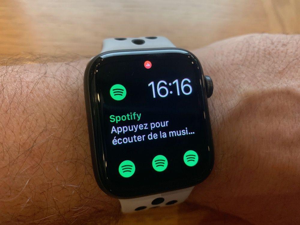 ecouter de la musique sur apple watch