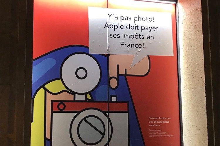 Attac a redécoré l'AppleStore des Champs-Élysées [MàJ]