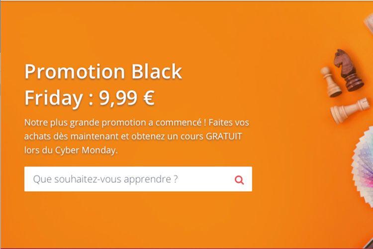 Black Friday : des cours à 10€ chez Udemy et un cours offert en plus