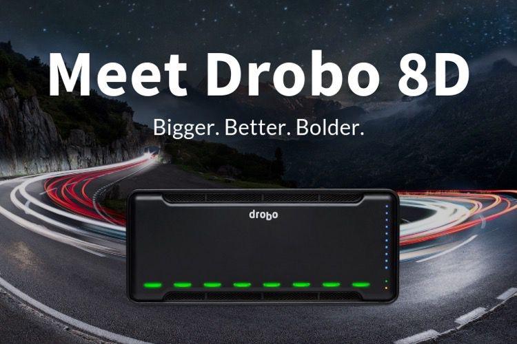 Le Drobo 8D est plus rapide avec ses huit baies et du Thunderbolt3