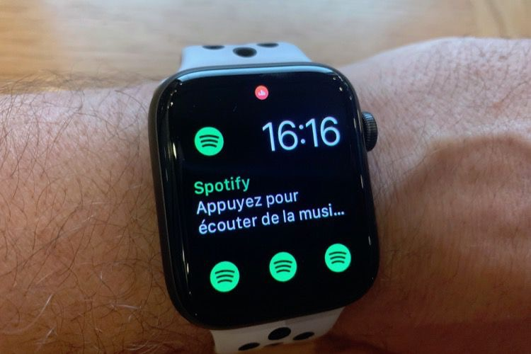 Prise en main de Spotify sur l'Apple Watch