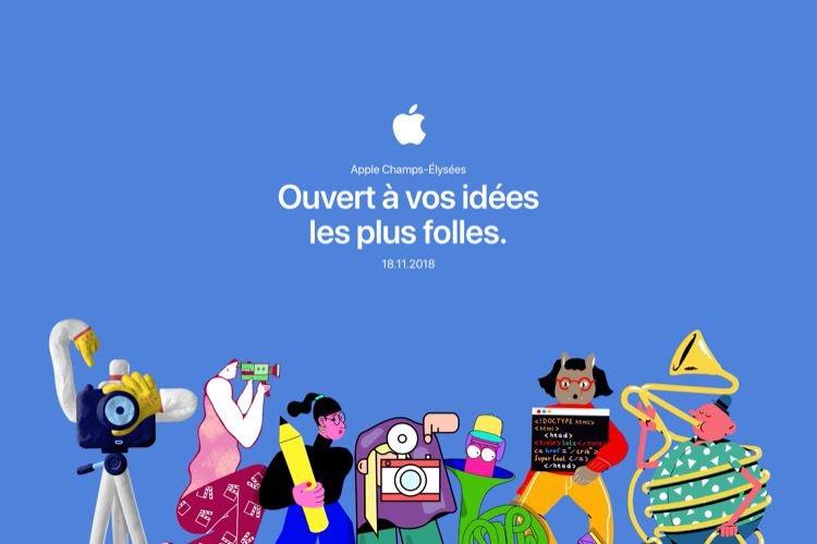 Apple Champs-Élysées ouvrira le dimanche 18novembre