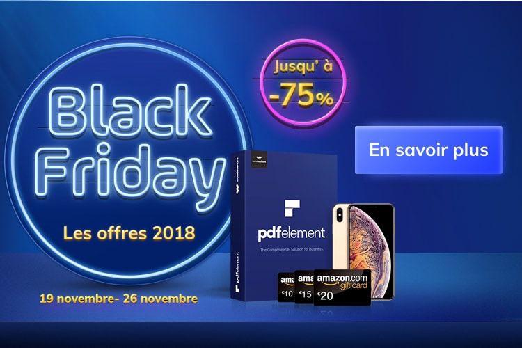 📣 PDFelement : une promo et une loterie pour le Black Friday