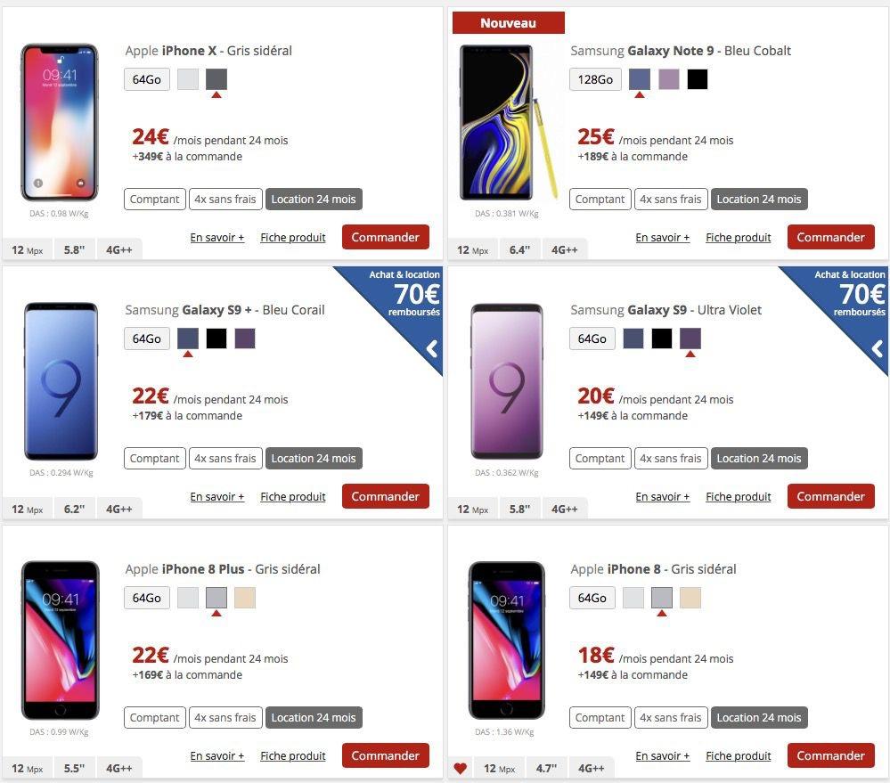 mobile vendu par free