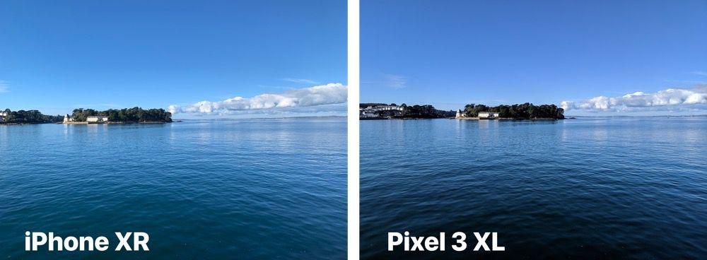 9eb01d0541a8ed L iPhone est plus clair que le Pixel et il a mieux préservé le vert des  arbres. C est affaire de goût, mais je préfère le rendu du Pixel néanmoins,  ...