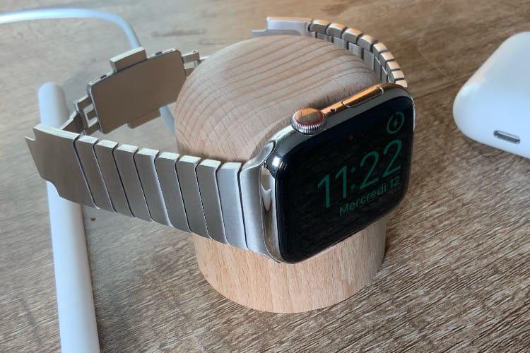 Aperçu du Totm, un socle en bois 100% français pour Apple Watch
