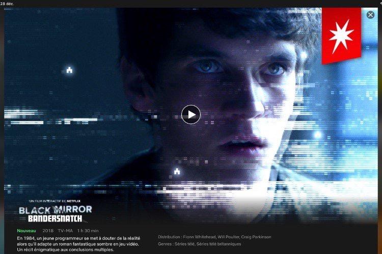 Netflix : l'épisode interactif de Black Mirror incompatible avec l'Apple TV