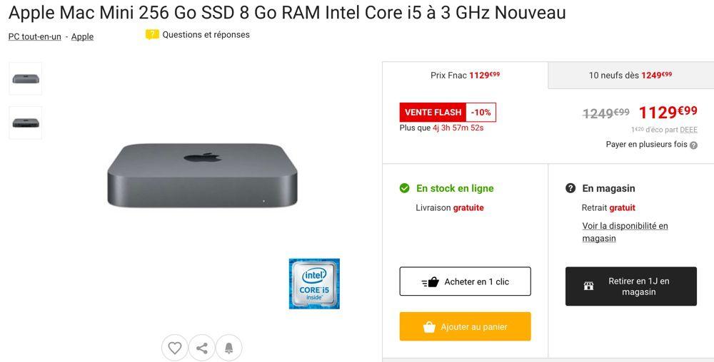 Fnac 10 Sur Des Macbook Air Pro Et Mac Mini 2018 Macgeneration