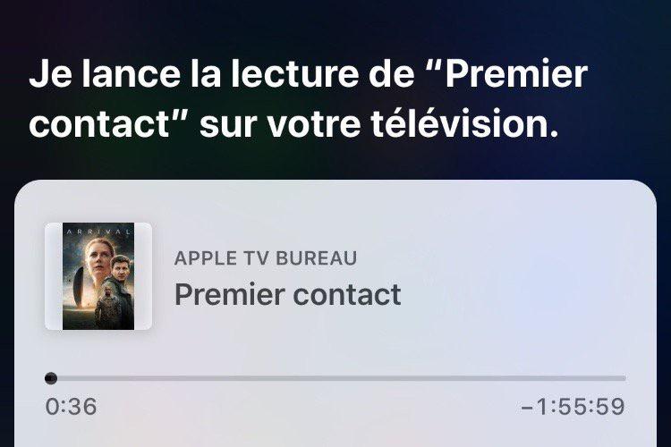 tvOS 12.2 : depuis un appareil iOS, Siri sait lancer un film sur l'Apple TV