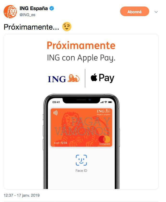 Ing France Toujours Pas D Apple Pay En Vue Maj Igeneration
