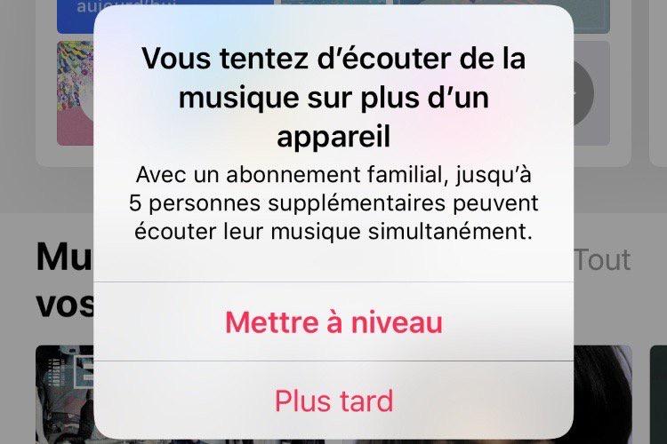 Écouter Apple Music sur le HomePod bloque le service de streaming sur les autres appareils