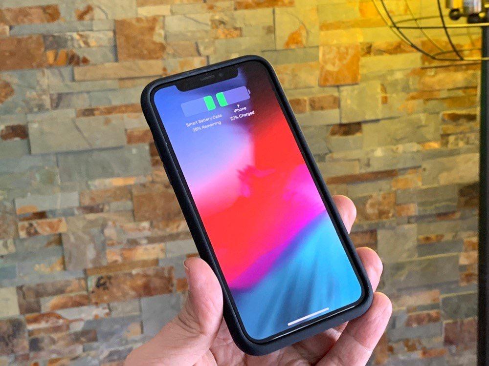 iphone xs coque recharge
