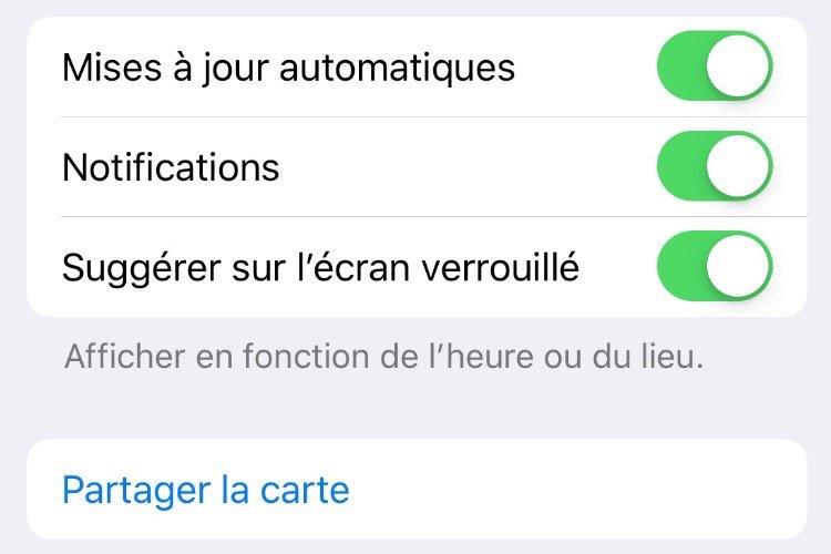 Dans iOS 12.2, les boutons de l'app Wallet sont arrondis et plus jolis