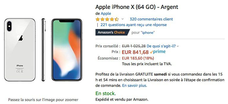reputable site 22807 5ee66 Promotion : l'iPhone X 64 Go descend à 841 € | iGeneration