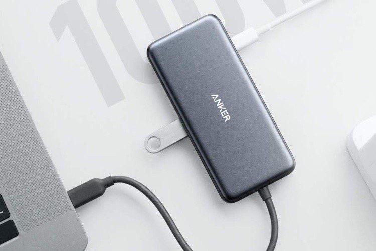 Deux ports USB-C dans le nouveau hub d'Anker
