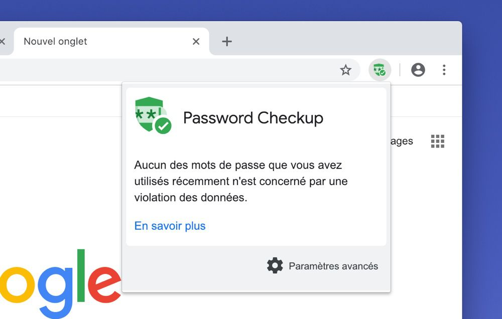 Une extension Google détecte les mots de passe qui ont fuité — Chrome