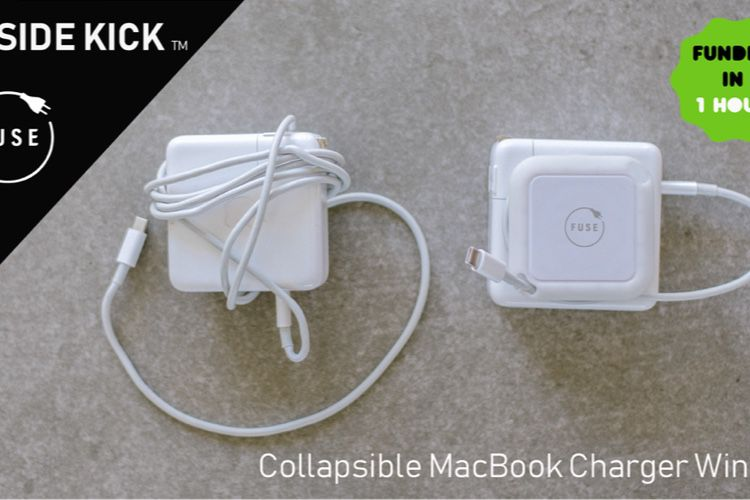 Kickstarter : le Side Kick enroule le câble des Mac USB-C