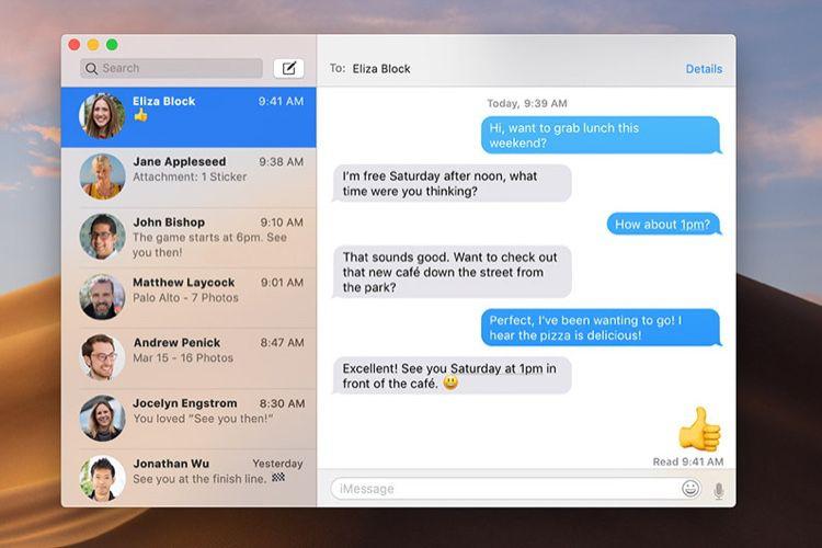 Mojave: l'application Messages particulièrement lente chez certains