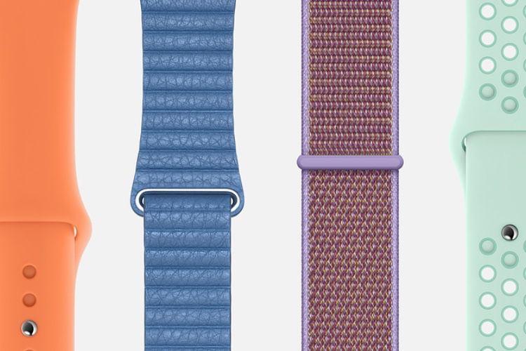 De nouveaux coloris printaniers pour les bracelets d'Apple Watch
