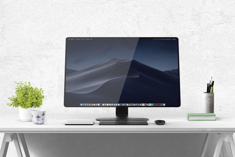 image en galerie : Et pourquoi pas un iMac avec un pied AirPower et un clavier Touch Bar ?