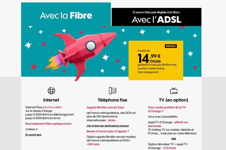 Promo : la boîte Sosh (fibre ou ADSL) à 15€ par mois pendant un an