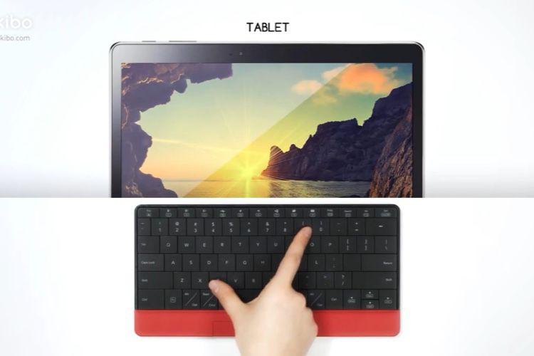 Le mokibo intègre le trackpad sous les touches du clavier