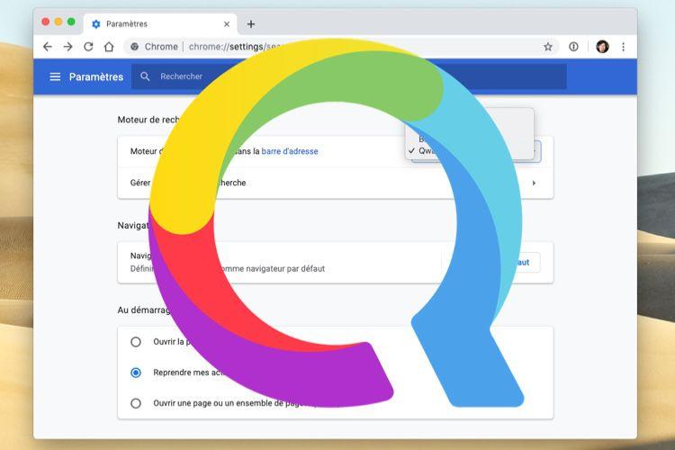 En France, Chrome 73 propose Qwant comme moteur de recherche