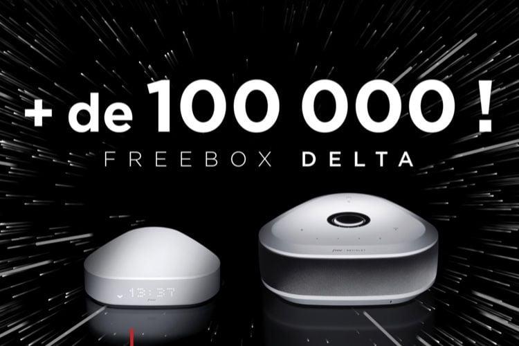 Plus de 100000 abonnés Freebox Delta