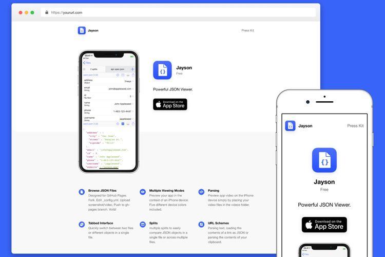 Un projet GitHub pour créer rapidement une page pour vos apps iOS