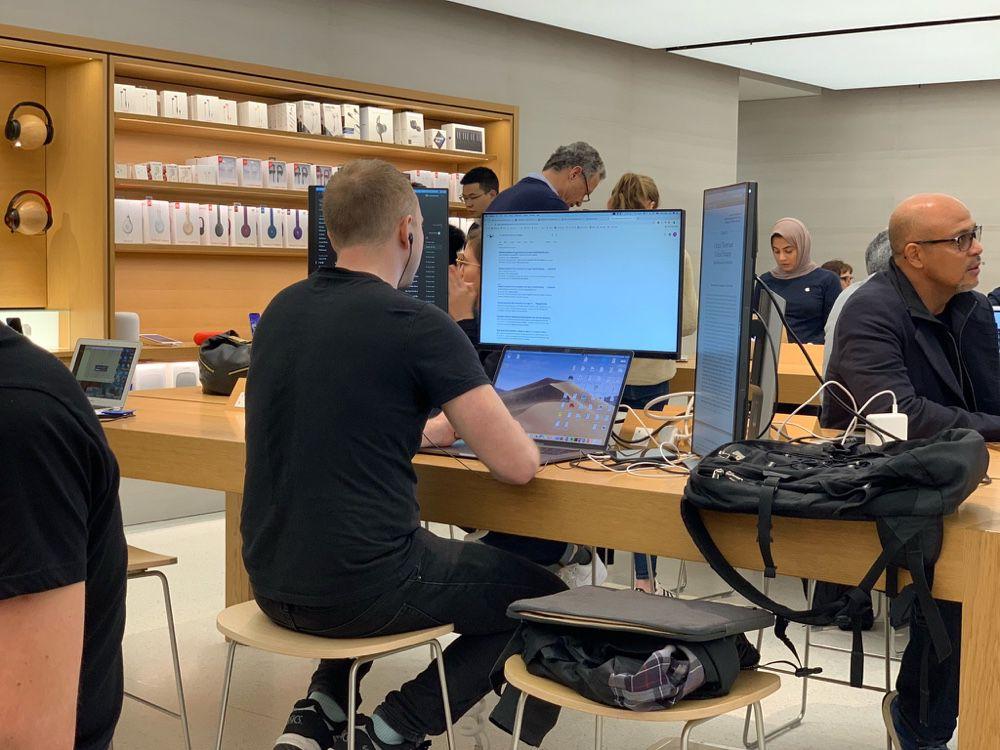 Il fallait y penser : l'Apple Store comme espace de coworking