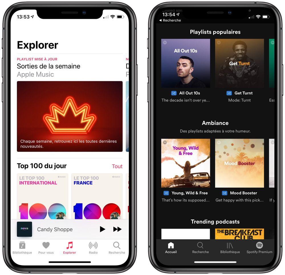 Apple Music dépasse Spotify en nombre d'abonnés aux USA