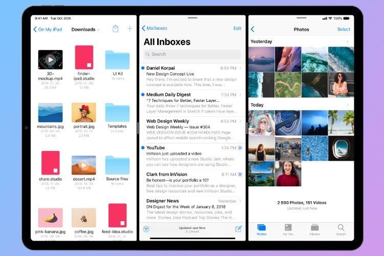 Un concept interactif de ruban multitâche pour l'iPad