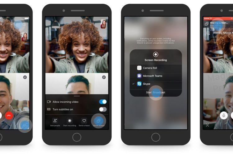 Microsoft va ajouter le partage d'écran à Skype sur iOS et Android