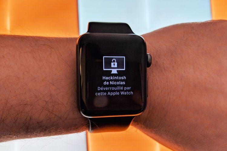 L'Apple Watch pourrait aussi débloquer les apps dans macOS10.15