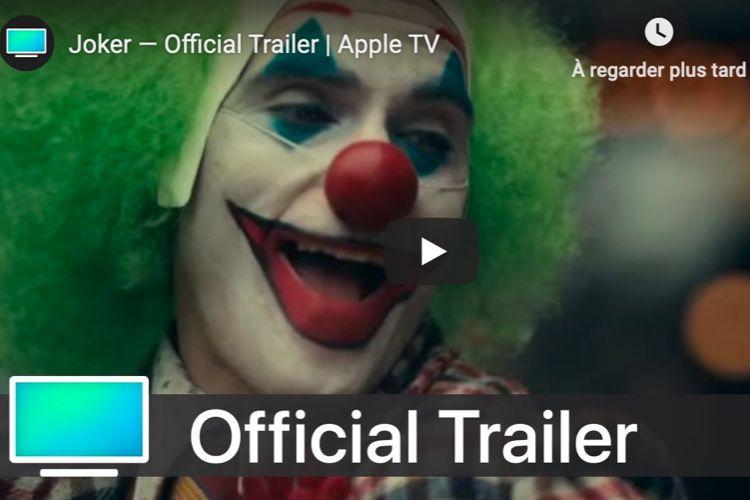 Des bandes-annonces et d'autres vidéos sur la nouvelle chaîne «Apple TV» sur YouTube
