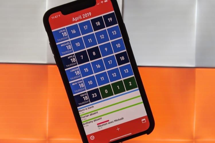 CalZones, un calendrier spécialisé dans les fuseaux horaires