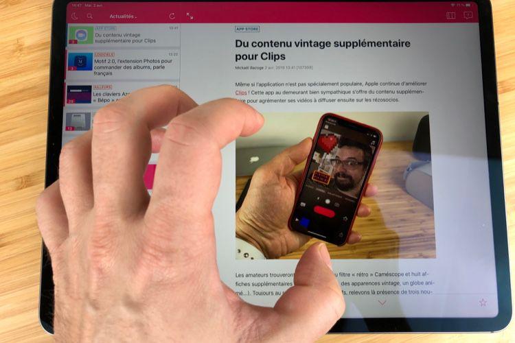 L'écran tactile de l'iPad Pro a parfois du mal à répondre présent